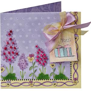 цветы ко дню матери Открытка ручной работы для нее