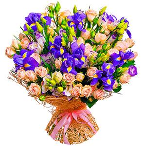 Дизайнерский букет +30% цветов с доставкой в Сергиевом Посаде